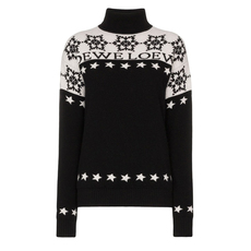 Loewe Snowflake Turtleneck Sweater White/Black
