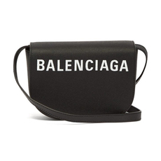 Balenciaga Ville Day Crossbody Bag Black/White