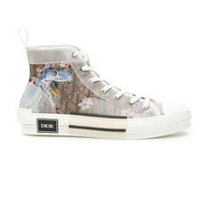 Dior Homme High-Top Sorayama Men's Sneakers White/Brown