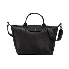 Longchamp Le Pliage Leder Shoulder Bag Black