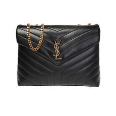 Yves Saint Laurent Loulou Medium Shoulder Bag Black