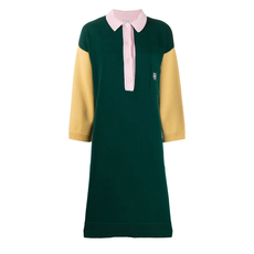 Loewe Colour Block Sweater Dress Green
