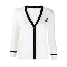 Loewe Embroidered Cardigan White