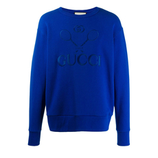Gucci Oversized Tennis Sweatshirt Blue