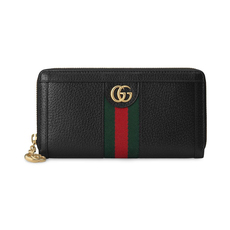 Gucci Ophidia Zip Around Wallet Black