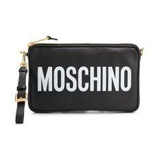 Moschino Logo Print Crossbody Bag Black