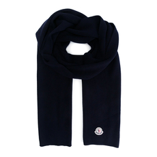 Moncler Knitted Scarf Dark Blue