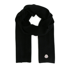 Moncler Knitted Scarf Black