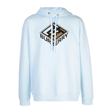 Burberry Graphic Logo Hoodie Pale Blue