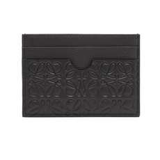 Loewe Linen Plain Card Holder Black