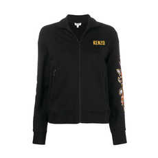 Kenzo Floral Embroidered Jacket Black