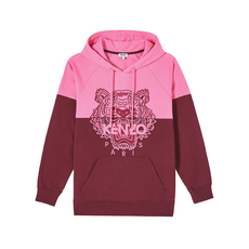 Kenzo Tiger Two-Tone Hoodie Bordeaux
