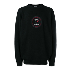 Balenciaga Speed Crewneck Sweatshirt Black