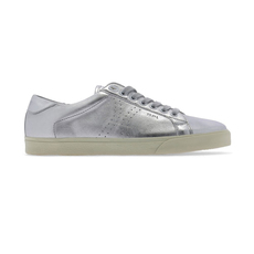 "Celine ""Triomphe "" Low Lace-Up Women's Sneakers Silver"