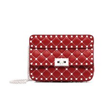 Valentino Free Rockstud Spike Small Crossbody Bag Red