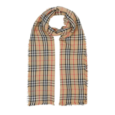 Burberry Vintage Check Lightweight Scarf Archive Beige