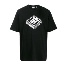 Burberry Logo Graphic Cotton T-Shirt Black
