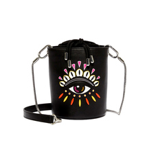 Kenzo Kontact Eyes Mini Bucket Bag Black