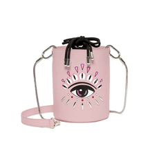 Kenzo Kontact Eyes Mini Bucket Bag Pastel Pink