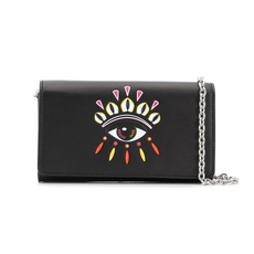 Kenzo Kontact Eyes Chain Wallet Black