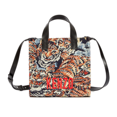 "Kenzo Jungle ""Flying Tiger"" Small Tote Bag Multicolor"