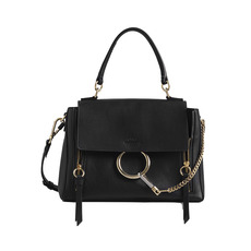 Chloe Small Faye Day Shoulder Bag Black