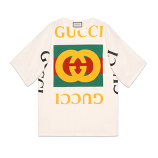 Gucci Oversize Logo T-Shirt Off White