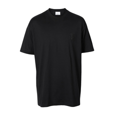 Burberry Crystal Monogram Motif T-Shirt Black
