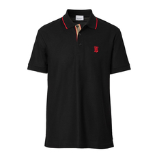 Burberry Icon Stripe Polo Tee Black