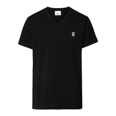 Burberry Monogram Motif V-Neck T-Shirt Black