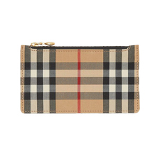 Burberry Vintage Check Card Holder Black