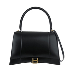 Balenciaga Hourglass Medium Shoulder Bag Black