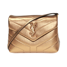 Saint Laurent Loulou Toy Crossbody Bag Antic Gold