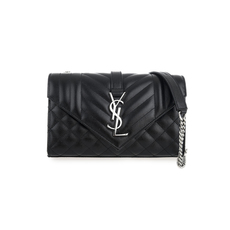 Saint Laurent Envelope Small Crossbody Bag Black