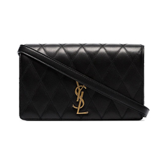 Saint Laurent Angie Crossbody Bag Black