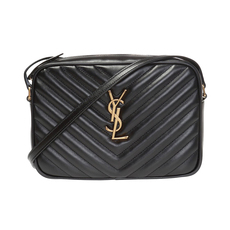 Saint Laurent Lou Camera Crossbody Bag Black