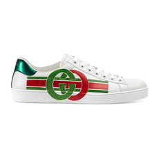 Gucci Ace With Interlocking G Men's Sneakers White