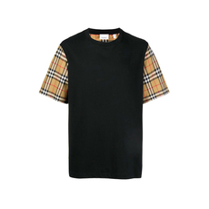 Burberry Vintage Check Detail T-Shirt Black
