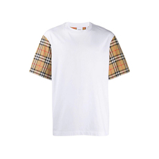 Burberry Vintage Check Detail T-Shirt White