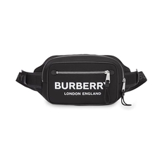 Burberry Logo Print Econyl® Waist Bag Black