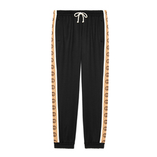 Gucci Loose Technical Jersey JoGGing Pants Black