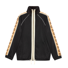 Gucci Oversize Technical Jersey Jacket Black