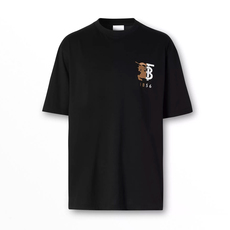 Burberry Contrast Logo Graphic Cotton T-Shirt Black
