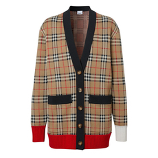 Burberry Vintage Check Cardigan Archive Beige