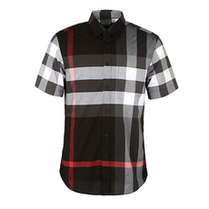 Burberry Check Shirt Charcoal