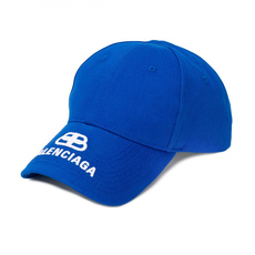 Balenciaga Bb Visor With Embroidered Logo Cap Blue