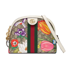 Gucci Ophidia GG Flora Small Crossbody Bag White