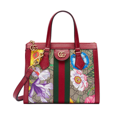 Gucci Ophidia GG Flora Small Shoulder Bag Red
