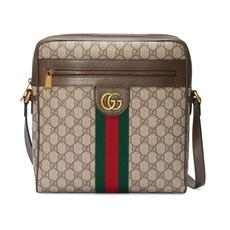 Gucci Ophidia GG Medium Messenger Bag Beige/Ebony