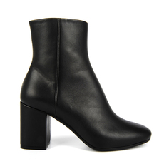 Balenciaga Chunky-Heel Leather Ankle Women's Boots Black